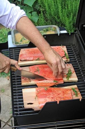 Wild salmon grilling from woodleywonderworks