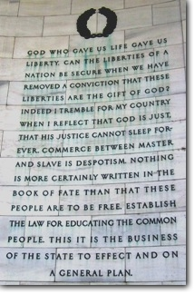 God-who-gave-us-life-gave-us-liberty-AmericanClarion-JeffersonMemorial-posted-Mashtead-blog-MHProNews-