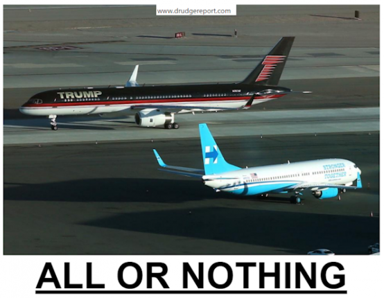 allornothingdrudge-trumpforceonevshillaryplane-postedmanufacturedhousingindustrydailybusinessnews-mhpronews