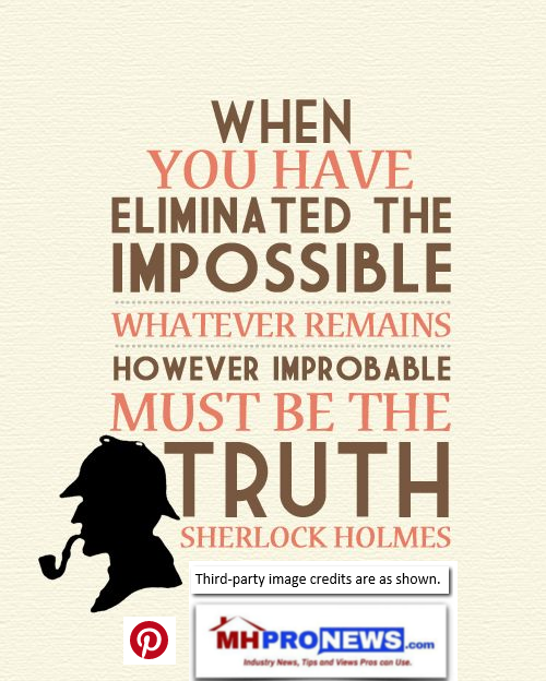 WhenYouHaveEliminatedTheImpossibleWhateverRemainsHoweverImprobableMustBeTheTruthSHerlockHolmesDailyBusinessNewsMHProNews
