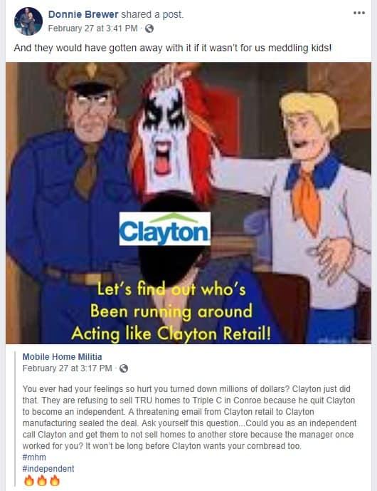 ClaytonHomesLogoDonnieBrewerWouldHaveGottenAwayWithItMastheadMHProNews